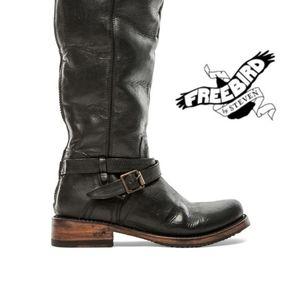 Freebird By Steven Shadow Boot in Black Leather 7